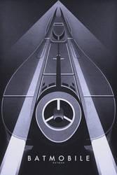 Batmobile - Tim Burtons Batman by FabledCreative