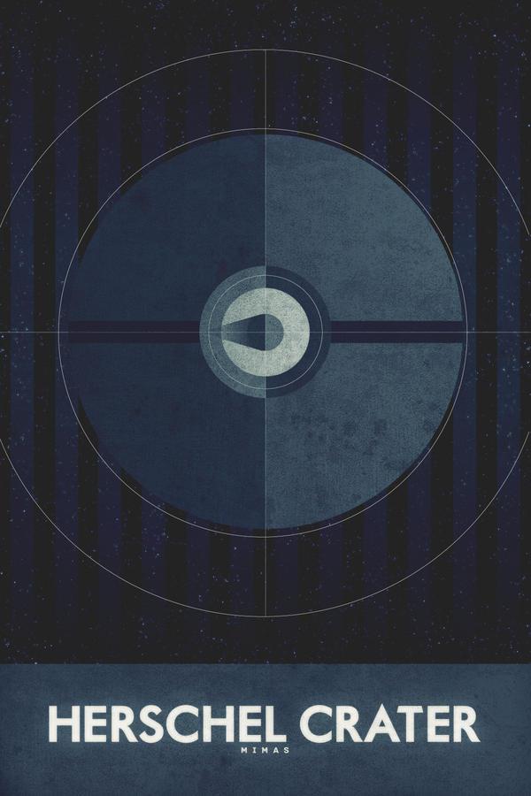 Mimas - Herschel Crater