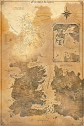 Game of Thrones Map - Westeros and Essos