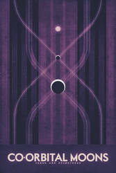 Co-Orbital Moons - Space Poster