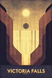 Victoria Falls - Space Poster