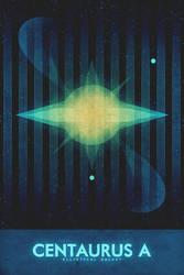 Elliptical Galaxy - Centaurus A - Space Poster