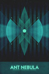 Bipolar Planetary Nebula - The Ant - Space Poster