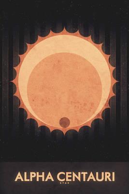 Star - Alpha Centauri - Space Poster
