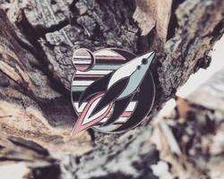 Spaceship - Hard Enamel Pin by FabledCreative