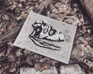 Dinosaur Skull - Carnotaurus by FabledCreative