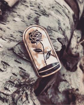 Rose in a Belljar - Enamel Pin