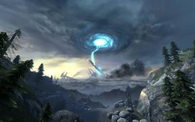 Half Life 2: Ep2 Portal vortex