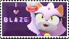 I love Blaze stamp