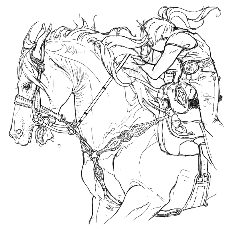 Barrel Racing Coloring Pages. Simple Racing Coloring Pages Coloring ...