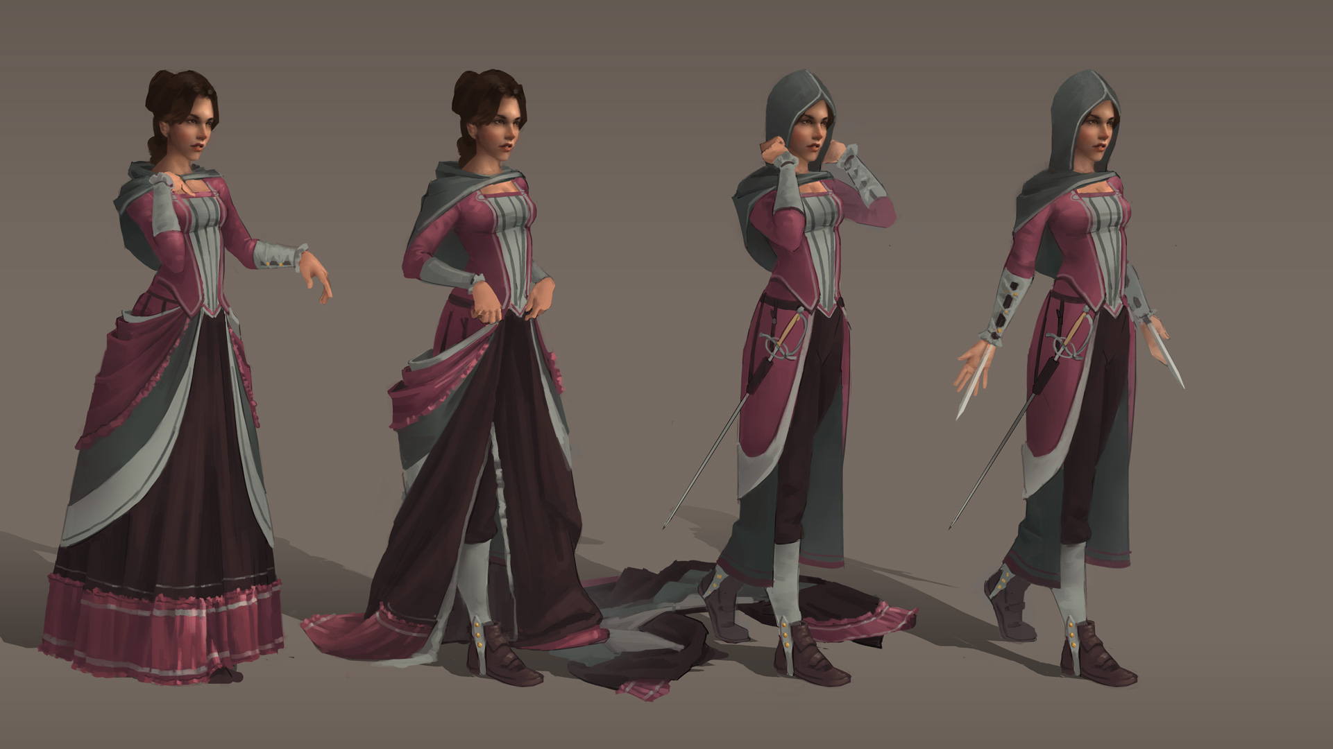 Female Assassin concept by GloriousRyan