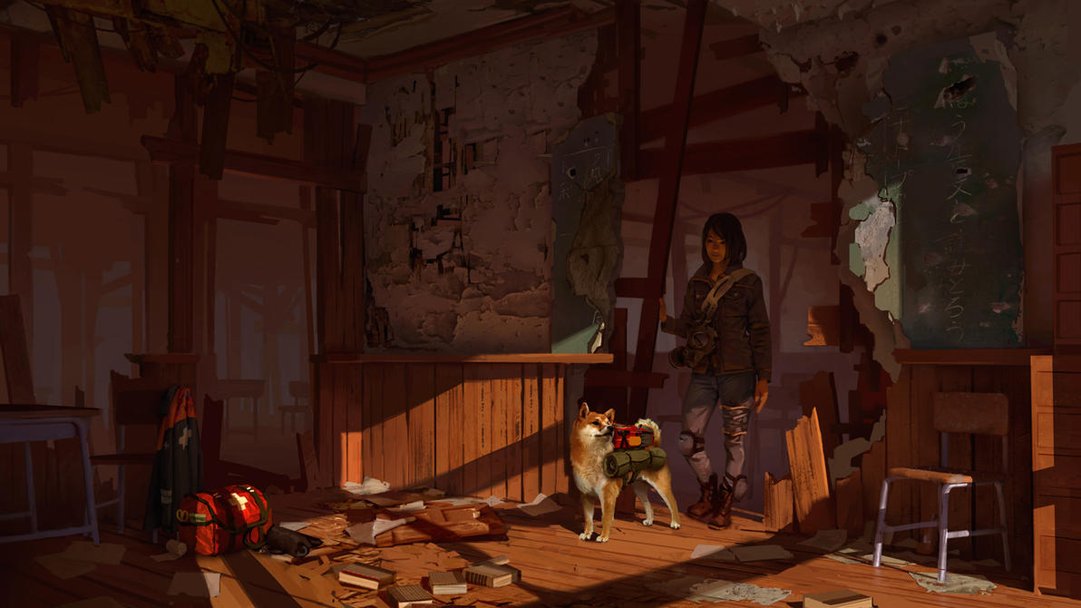Post Apocalyptic Classroom by GloriousRyan