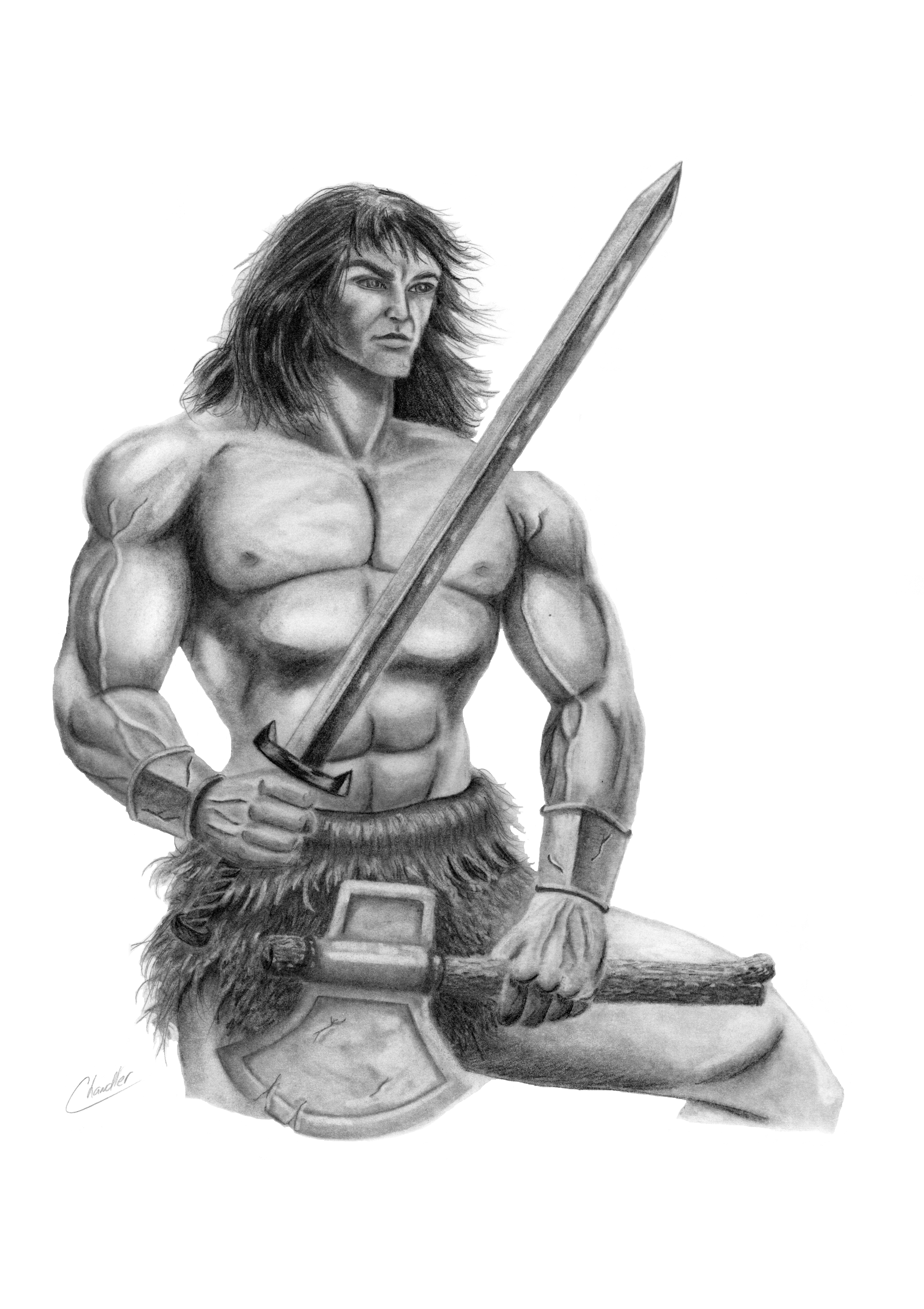 Barbarian Print by DChan75