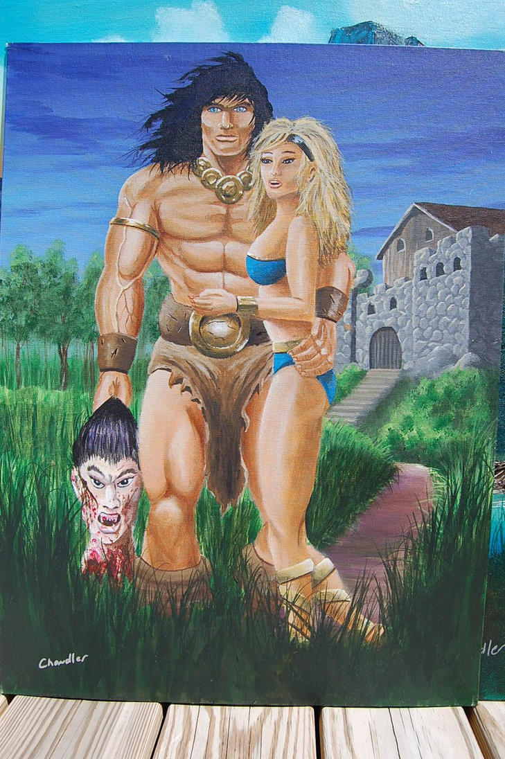 Conan the Victor smalller 16x20 by DChan75