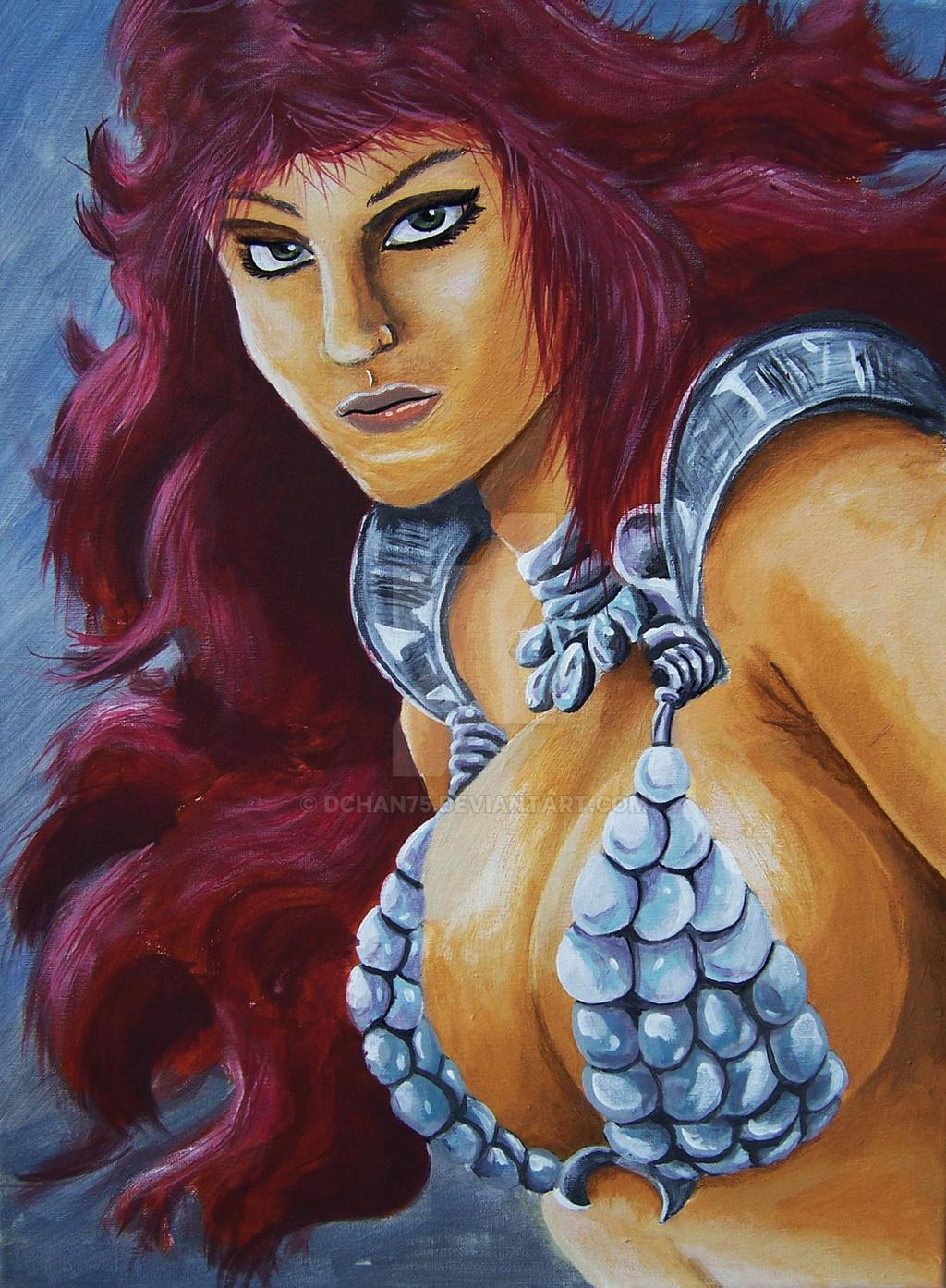 Red Sonja Head Portrait by DChan75