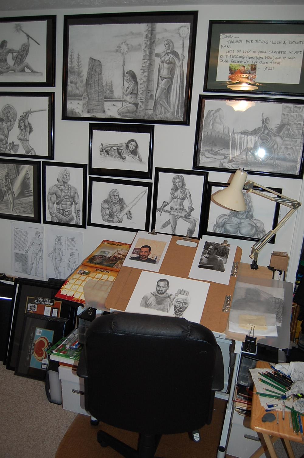My art desk where I work until I fall asleep by DChan75