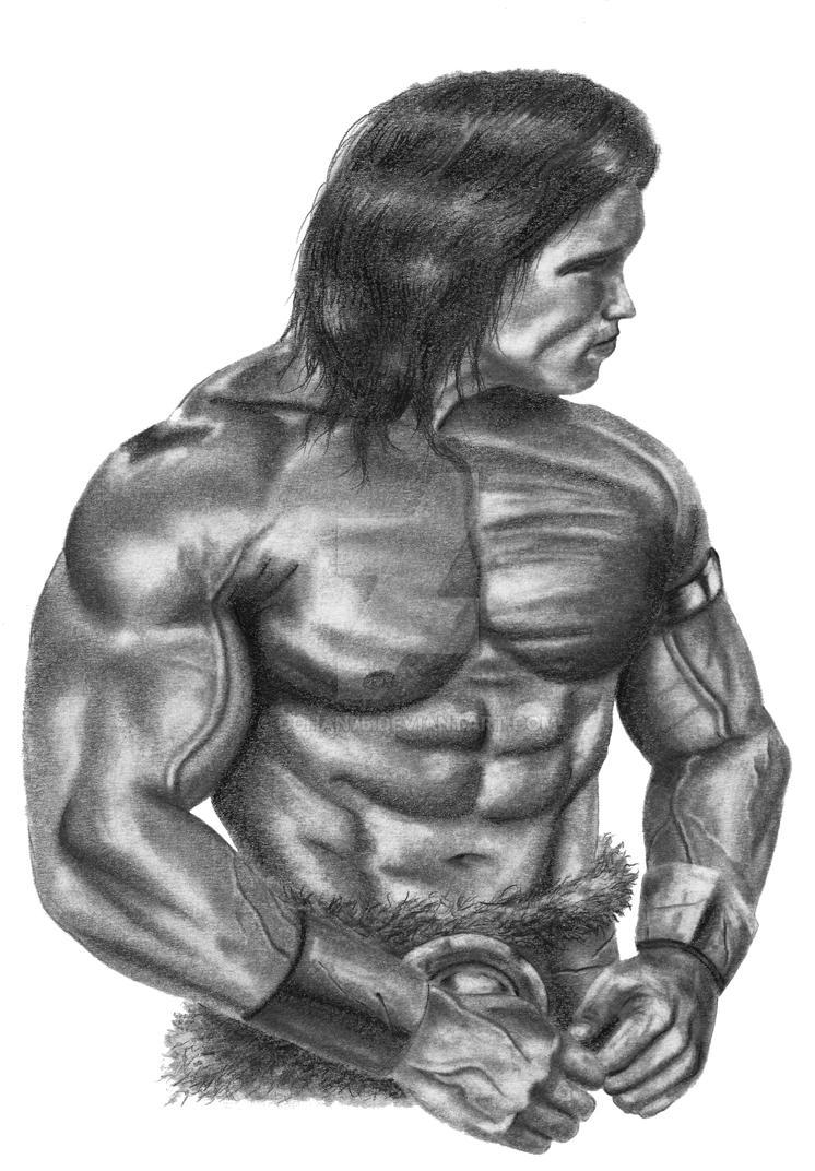 Arnold as Conan by DChan75