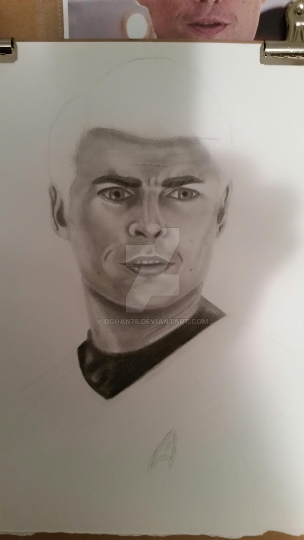 Karl Urban as Dr. McCoy working on before the show by DChan75