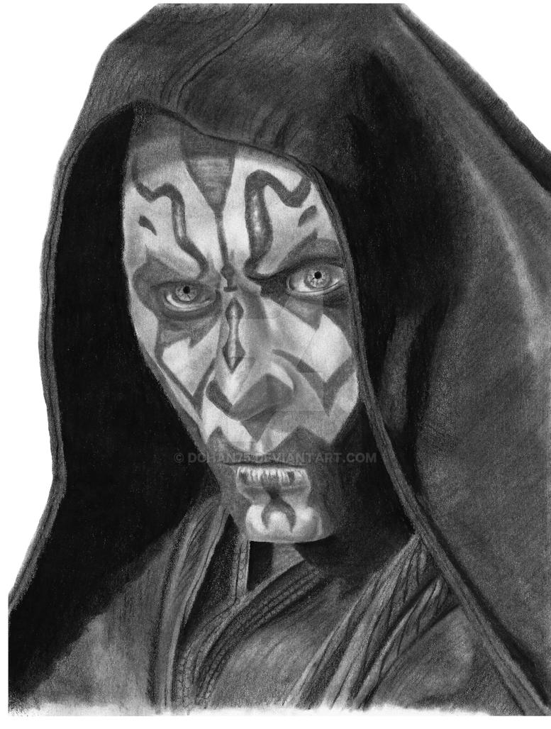 Darth Maul drawing finished print by DChan75