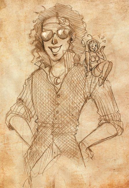 Poiizzu Sketch Commission by luniara