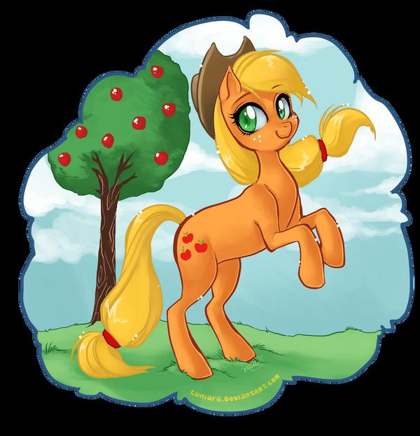 Applejack by luniara