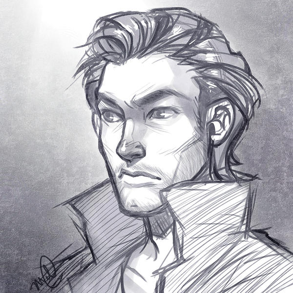 Emissary Commission Bust Sketch by luniara