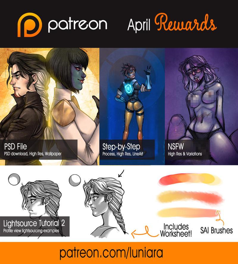 Patreon April Summary by luniara