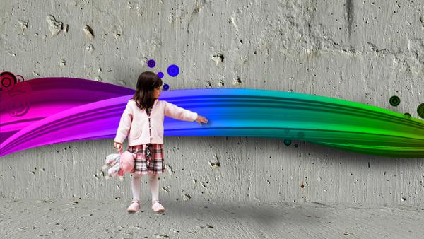 Rainbow Girl by Think-Creative