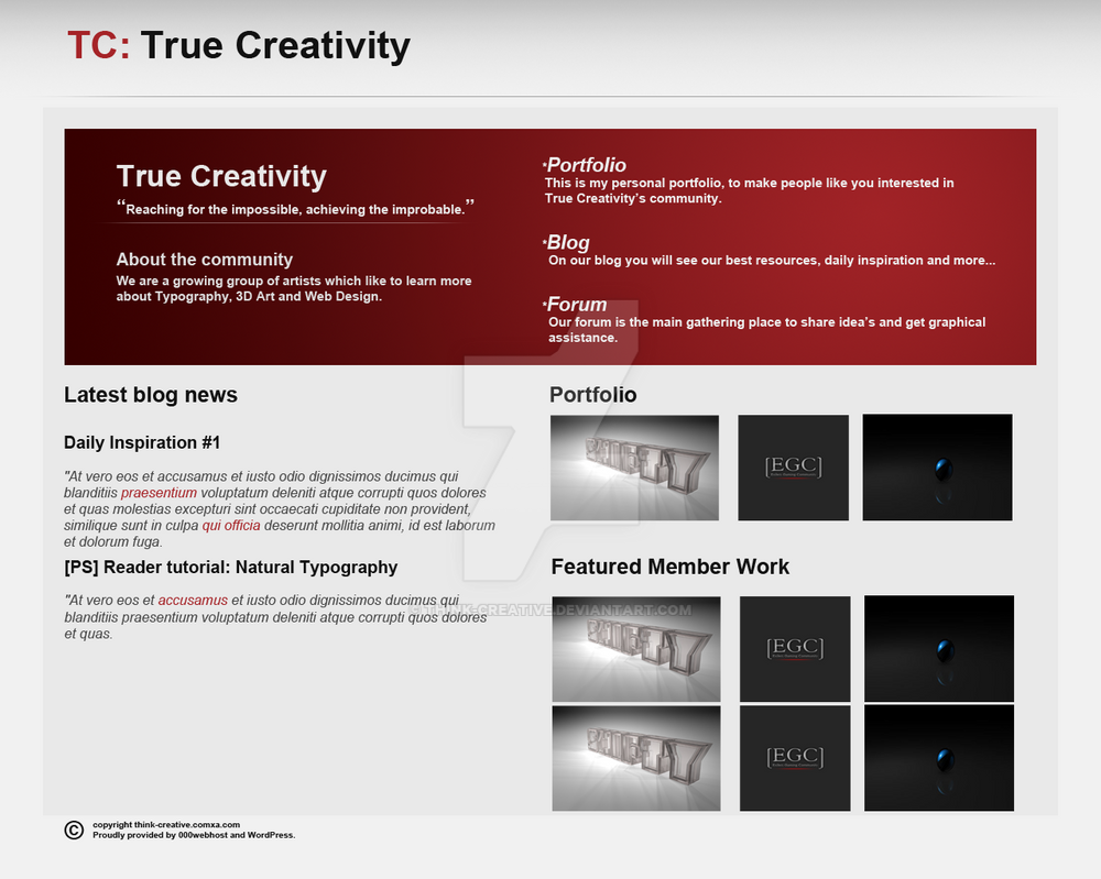 True Creativity: red by Think-Creative