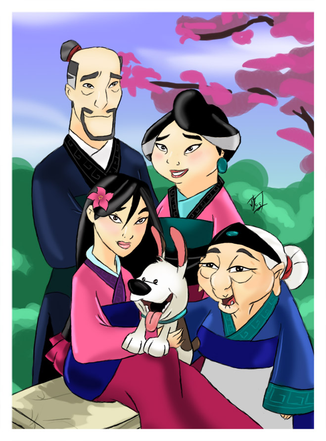 Mulan's family by wuuge on DeviantArt