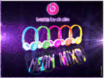 beats by dr dre neon mixr DJ headphones (Design 2)