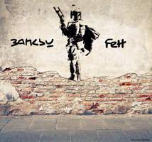 Banksy Fett by CB3723