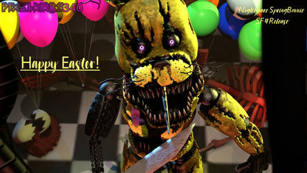 [FNaF/SFM] Happy Easter! Nightmare SB Release! by PixelKirby340