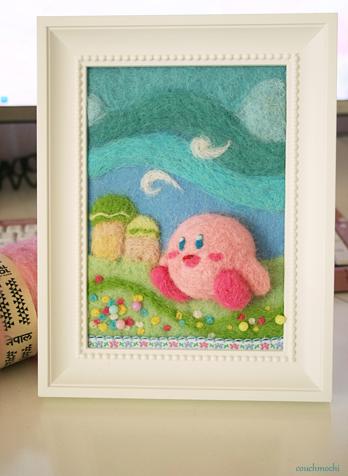 Felted Kirby Picture by couchmochi
