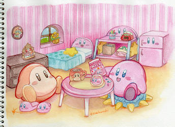 Kirby's Happy Room by couchmochi