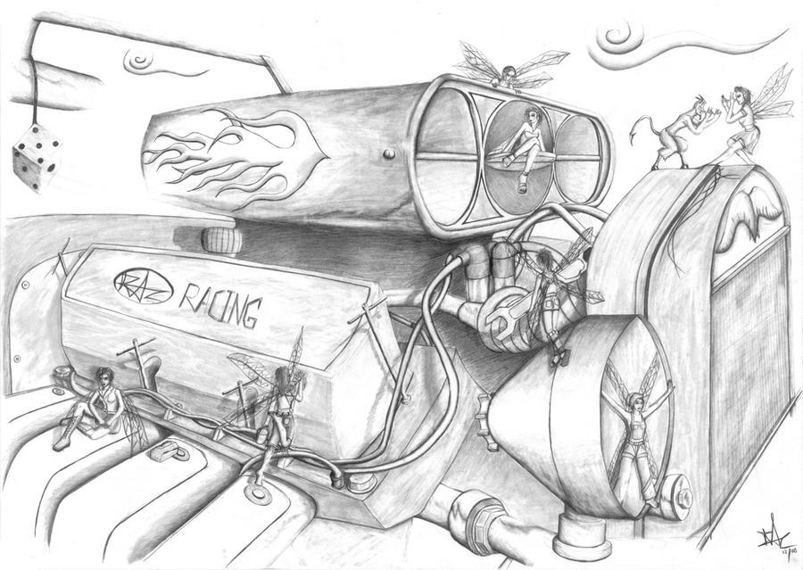 Engine Fairies by Razamanaz