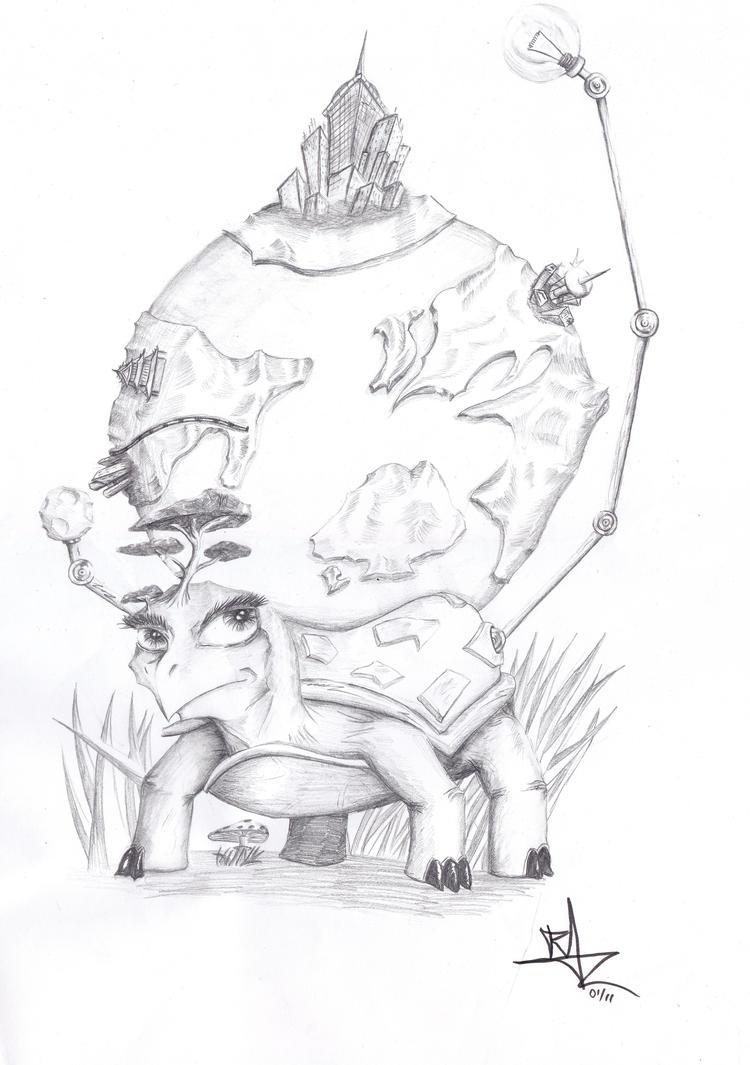 Teh World Turtle by Razamanaz