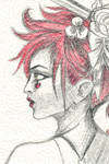 Emilie Autumn in Paper Towel and Crayon by mrinx