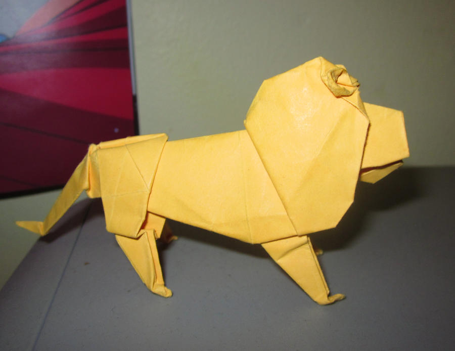 Origami Lion By Mrinx