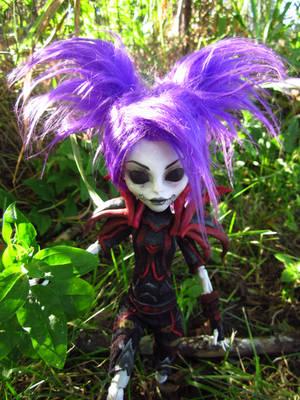 Undead Rogue Harlequin - Monster High Custom 2