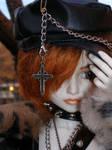 Gabriel-Black hat, black coat
