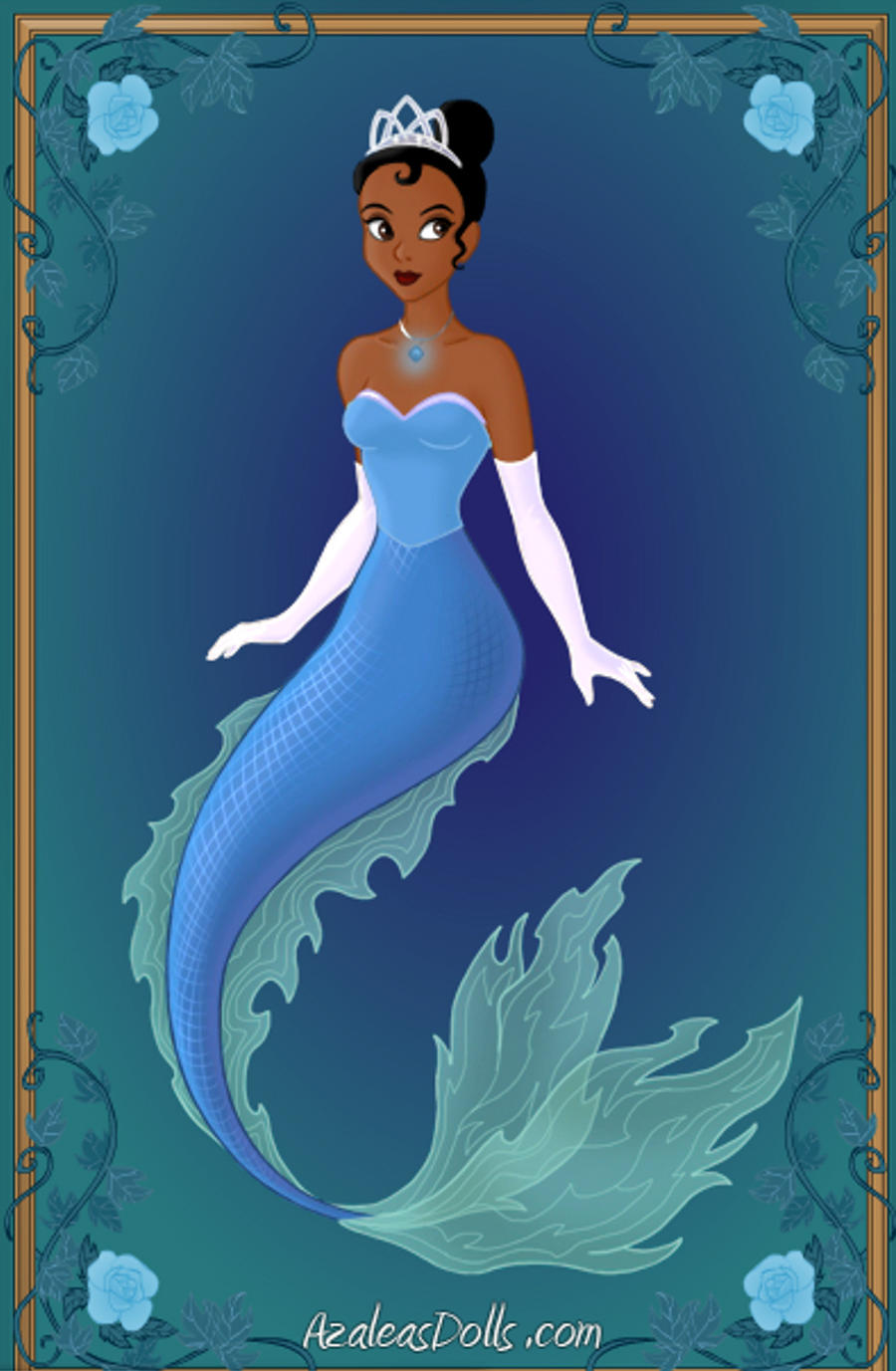 Tiana Disney Mermaids By Wolfsgesang On Deviantart Pictures Of Disney Princesses As Mermaids
