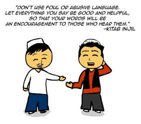 Foul and abusive language