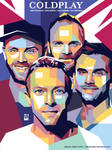 COLDPLAY POSTER PORTRAIT