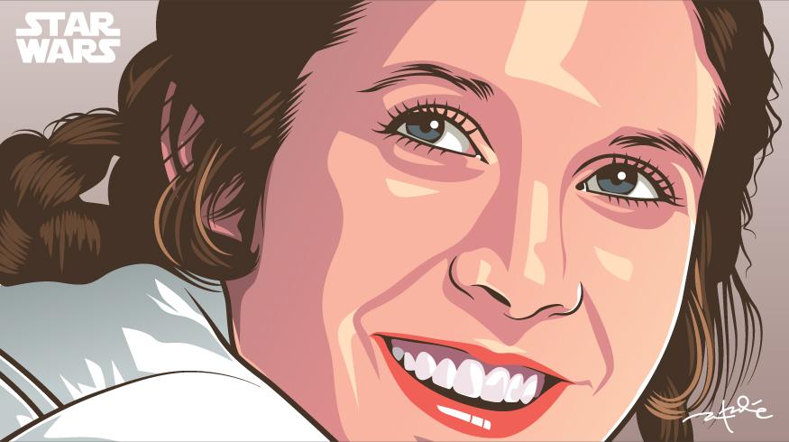 Princess Leia (Rest In Peace) by laksanardie