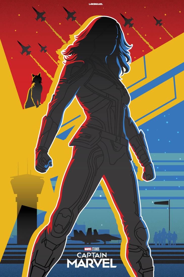 Captain Marvel Alternate Poster by laksanardie