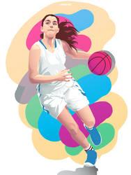 Basket Girl Illustration
