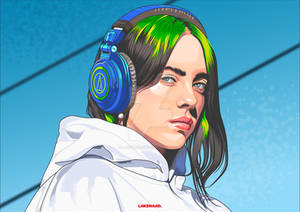 Billie Eillish and Her Headphone