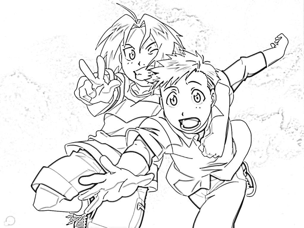 Fullmetal Alchemist Brotherhood Coloring Pages By Kamishiro21 On Deviantart