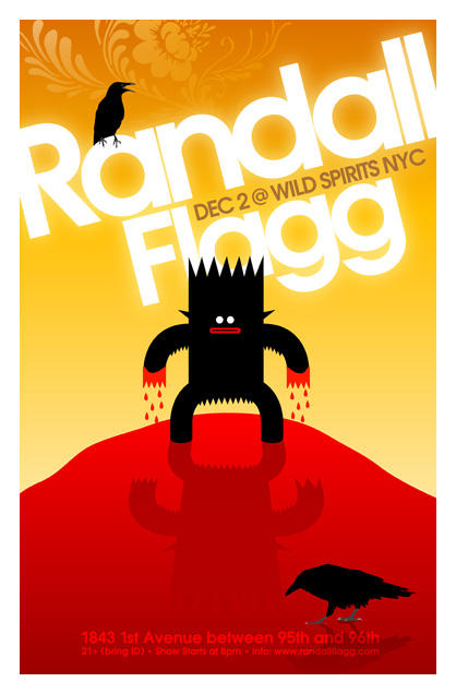 Randall Flagg Show Poster 12-2 by rsf1977